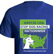 Stop dog racing nationwide t-shirt